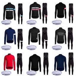 Discount rapha cycle clothes - 2019 RAPHA Men team Cycling Winter Thermal Fleece jersey bib Long pants set Bike Clothing Quick-Dry Bicycle Sportwear Ro