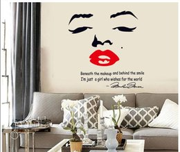 sexy 3d painting Australia - 3D Supernova Marilyn Monroe sexy lips Cute Wall Stickers Nursery Daycare Room Home Decoration Vinyl Wall Art Poster painting