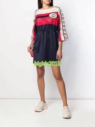 $enCountryForm.capitalKeyWord NZ - high end women girls flower lace shirt dress crew neck long sleeve drawstring a-line mini skirt top quality fashion design luxury dresses