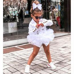 Детские девочки для девочек Slim Fit Blazers Button County с кружевами Tulle юбки Tops Girls Подростковая осень Офистра пиджаки на Распродаже