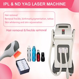 ipl yag tattoo removal laser Canada - 2020 factory price 2 handles ipl permanent laser hair removal diode and ipl and nd yag laser tattoo removal machine