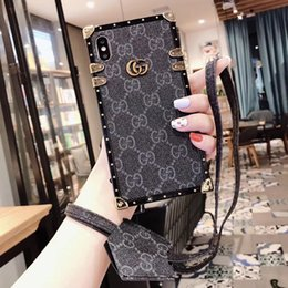 $enCountryForm.capitalKeyWord Australia - luxury designer phone cases for iPhone 6 7 8 plus X XR XS MAX Fashion Brands PU leather case For Samsung note8 9 S8 S9 P S10 light