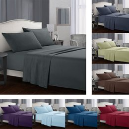 Sheet california king Size online shopping - Bedding sets Fitted sheet Flat sheets Pillowcase Solid color Twin Full Queen California King bed Set USA CA Size Mattress Protector