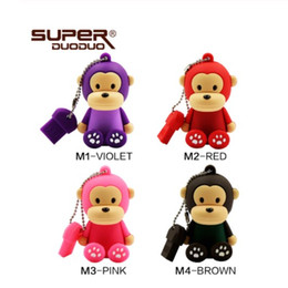 128 gb stick Australia - USB flash Drive 4GB 8GB 16GB Pen drive Cartoon monkey pendrive 32GB 64 GB 128 GB memoria usb stick new design cle usb key