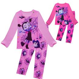 5b0adfc184 Cartoon Characters Wholesale Pajamas Sleepwear UK - Kids Vampire Pajamas  christmas Vampire Girls Print sleepwear girl