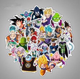 decals for bicycles NZ - 36 Pcs Lot Anime Dragon Ball Stickers Super Saiyan Goku Stickers For Car Laptop Skateboard Pad Bicycle Phone Decal PVC Sticker
