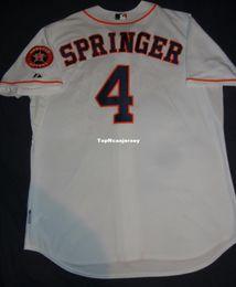 fff35d831 Cheap Retro  4 GEORGE SPRINGER Majestic Top HOUSTON Jersey White 52 2XL NWT  Altuve Mens Stitched Baseball jerseys