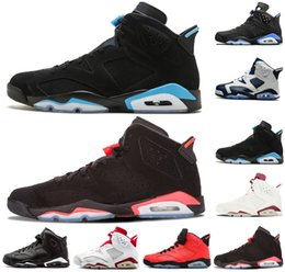 Table Cat Box Australia - Designer shoes 6 6s UNC men basketball shoes Black Cat Angry bull Infrared Olympic Oreo Marron mens trainers sports sneakers size US 8-13