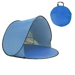 Pop Up Tents Person UK - Automatic Opening Tents Instant Portable Beach Tent pop up Shelter Hiking Camping Family Tents Anti UV With Packaging Bag For 1 Person Outd
