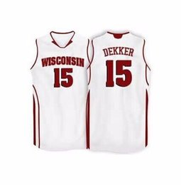 66d796033  15 Sam Dekker Wisconsin Badgers College Basketball Jersey All Size  Embroidery Stitched Customize any name and name XS-6XL vest Jerseys