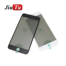 Glasses Repair Iphone Australia - For iPhone 4 in 1 Glass With Bezel Frame+OCA+Polarizer Film For 8G 8 Plus 7 7P to 5G LCD Repair Replacement Jiutu