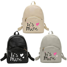 Styles Backpacks Australia - Preppy Style Women Backpack Letter Print Mini PU Leather Backpack Schoolbags for Teenage Girls Female Rucksack Mochilas