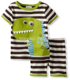 $enCountryForm.capitalKeyWord Australia - [Bosudhsou] Kids Summer Clothing Set Baby Boy's Clothing Suit Children's Dinosaur Cow Tigger Crab Design T shirts+Casual