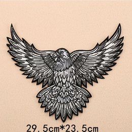 06eb5014 Large Eagle Military Morale Embroidery Patches for Clothing Iron on Clothes  Motorcycle Biker Appliques Badge Stripes Sticker Diy