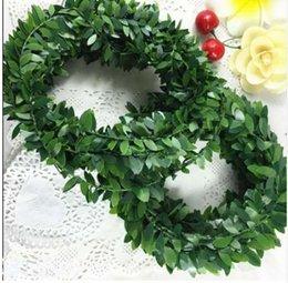 $enCountryForm.capitalKeyWord NZ - 3.75M 150inch pcs Silk Garland Green Leaf Iron Wire Artificial Flower Vine Rattan For Wedding Car Decoration DIY Wreath Flowers