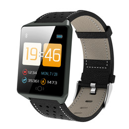 $enCountryForm.capitalKeyWord Australia - Bluetooth Smart Watch Men Sports step Color Screen Touch Smart Wristband Leather Waterproof Heart Rate Smartwatch Women