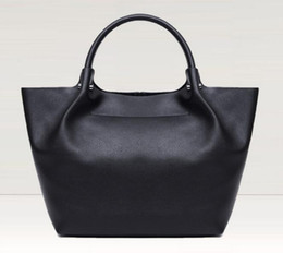 $enCountryForm.capitalKeyWord Australia - New In Women Genuine Leather Soft Casual Solid Handbag Cowskin Totes Large Bag J190611