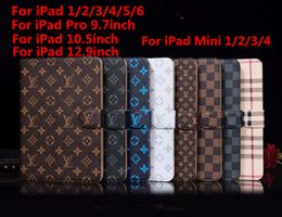 Wholesale Luxury Ipad Case for inch iPad Fashion Vintage Grid Case PU Leather Tablet Cover for IPad Pro Air1 Mini1234