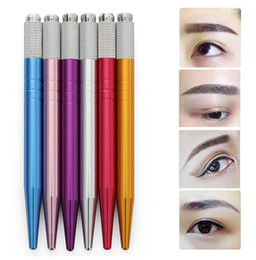 Wholesale Microblading Pen Tattoo Machine Tools Permanent makeup Eyebrow Manual Pen Handle Eyelash Mini Manual Tools Tattoo pen