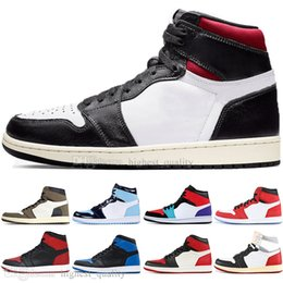 rhinestone high top sneakers 2019 - Newest 1 High OG Travis Scotts Cactus Jack UNC Spiderman Mens Basketball shoes 1s Top 3 Banned Bred Toe Chicago Men Spor
