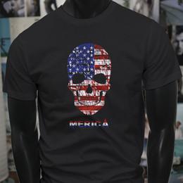America Skulls Flag American Badass Biker Mens Black T-Shirt T-shirt Men  Male XXXL Custom Short Sleeve Valentine s Plus Size Men s Tshirts fd4a7f09701b