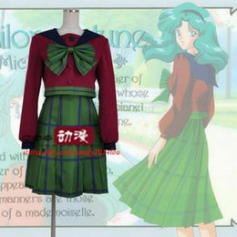 Wholesale cosplay japanese uniform for sale - Group buy Sailor Moon Kaiou Michiru Tomoe Hotaru Neptune School Uniform Cosplay Costume