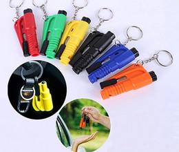 Hammer Break Car Window Australia - Mini 3 In 1 Car Styling Pocket Auto Emergency Escape Glass Window Breaking Safety Hammer with Keychain Seat Belt Cutter DHL Free Shipping