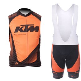 Cycling Gel Pads NZ - 2019 KTM Pro cycling Jersey 9D gel pad bike shorts set Ropa Ciclismo quick dry Racing bicycling Maillots Culotte
