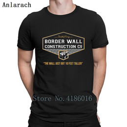 $enCountryForm.capitalKeyWord Australia - Donald J Trump Border Wall Construction Company T Shirt Summer Top Tee Interesting Black Shirt Branded S-3xl Authentic Novelty