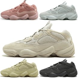 super sport shoes for men UK - Kanye West 500 Desert Rat Blush 500s Salt Super Moon Yellow Utility Black mens running shoes for men women sports sneakers trainers 5-11 #3