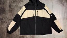 $enCountryForm.capitalKeyWord Australia - Spring New Women Brand Hooded Jacket Two-color Stitching Bomber Jacket Loose Cotton Sanded Coat Street Fashion