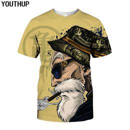 $enCountryForm.capitalKeyWord Australia - Youthup Summer Shirts Anime Print Dragon Ball 3d T-shirt Oogway Tees Master Roshi Men T Shirt Streetwear Plus Size Q190518