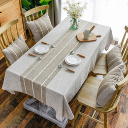 $enCountryForm.capitalKeyWord NZ - Sytlish Linen Table Cloth Country Style Plaid Print Multifunctional Rectangle Table Cover Tablecloth Home Kitchen Decoration Y19062103