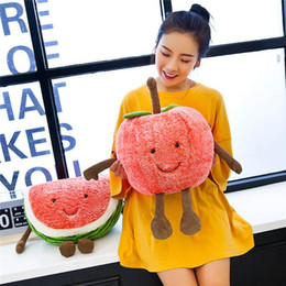 Toys For Children Years NZ - 20170602 Watermelon Cherry Fruits Soft Plush Cute Toys Stuffed Dolls Pillow For Kids Children Gift New Year Boys Girls