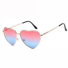 f283928ca0 Love Heart Polarized Sunglasses Women Vintage Fashion Gold Frame Rainbow  Lenses Shade Eyewear Female Mirror Sun Glasses