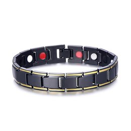 Wholesale Magnetic Bracelet Chains Stainless Steel Energy Germanium Magnet Health Bracelets Bangle Hand Chain Bracelets Casual Jewelry