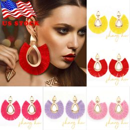 Chinese  Bohemian Large Tassel Earrings Women Handmade Fringe Earrings Statement Jewelry manufacturers