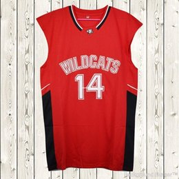 Cheap custom Zac Efron  14 Troy Bolton East High School Wildcats Basketball Jersey  Stitched Customize any number name MEN WOMEN YOUTH XS-5XL d5e893839