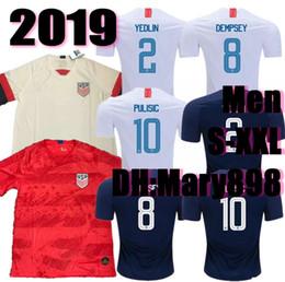 7fefea230 Thai quality 2019 2020 USA PULISIC Soccer Jersey 2019 DEMPSEY BRADLEY  ALTIDORE WOOD America Football jerseys United States Shirt S-XXL