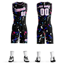 Custom Mens Youth Kids Design Sublimation Colourful Basketball Jerseys  Uniforms 4075dec9d