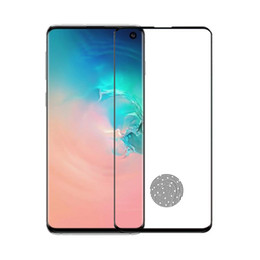 3d glasses display online shopping - Fingerprint Unlock Full Tempered Glass For Galaxy S10 S10 S10e Plus Screen Protector NO HOLE Support in Display Sensor With Wooden Package