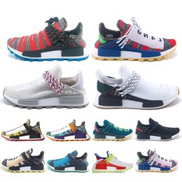 f734c795d Hot sale PW Human Race Hu Trail X Men Running Shoes Pharrell Williams Holi  MC Nerd white Homecoming Womens Trainers Sports Sneakers 36-45