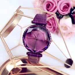 $enCountryForm.capitalKeyWord Australia - Luxury women watches 34mm dial leather strap Crystal diamond Quartz wrist watch For ladies Valentine Gift Water Resistant Montre Femme