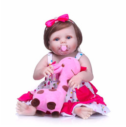 Baby Figures Australia - NPK 22' Newborn Dolls Lifelike Reborn Dolls Babies Full Body Silicone Vinyl Bebe Christmas Gift For Girls Realistic Children Toy