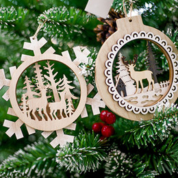 $enCountryForm.capitalKeyWord Australia - Wooden Decorative Pendant Christmas Elk Ornament Creative Home Living Room Wall Hanging Ornaments Decoration Crafts