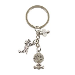metal baby keys 2019 - Dropshipping baby girl boy baby pacifier cloth Keychain Fashion Key Ring DIY metal chain Jewelry for mother mother-to-be