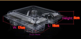 $enCountryForm.capitalKeyWord Australia - 100pcs clear Pod Cup Cake boxes, transparent Muffin cupcake cookie packaging box Hold 4 cakes storage container free shipping