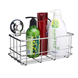 stocked spice rack UK - Sucker Storage Rack For Shampoo Shower Toilet Wall Holder Drain Bath Suction Cup Basket Shelf Corner Kitchen Bathroom Rack