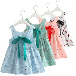 Wholesale Newest Style Summer Baby Kid Cotton Vest Princess Girls Dress Newborn Infant Sundress Clothes Cute Flower Dress