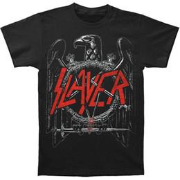 Slayer Herren Black Eagle T-Shirt Schwarz im Angebot